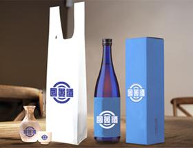 HDPE(カシャカシャ) 一升瓶用レジ袋 サイズ詳細! 片面1色のみ300枚から印刷可能