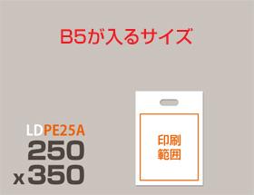 LDPE(ツルツル) 手提げ袋 PE25A 250x350mm